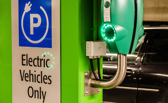Electric Vehicle Charging in Public Car Park